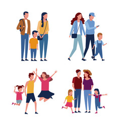 set of familly avatar vector image