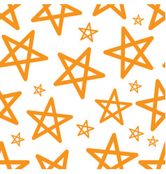 star seamless pattern vector image