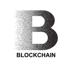 stipple blockchain symbol vector image