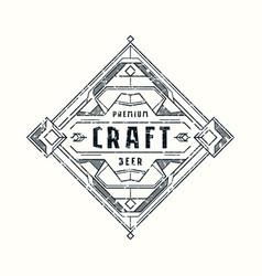 Stock craft beer label design vector