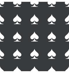 Straight black spades pattern vector