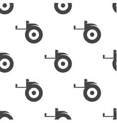 Tape measure seamless pattern vector