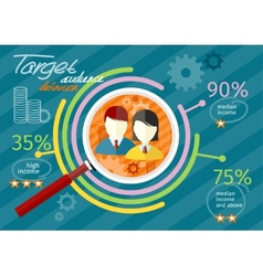 Target audience infographic vector