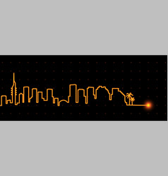 tel aviv light streak skyline vector image