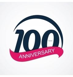 Template Logo 100 Anniversary vector