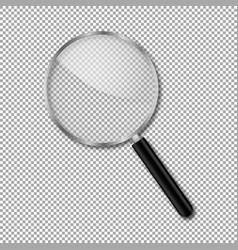 transparent magnify glass vector image