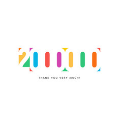 two million subscribers baner colorful logo vector image