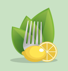 Vegan lemon food fresh vector