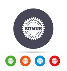 bonus sign icon special offer star symbol vector image vector image