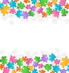 Bright Jigsaw Puzzle Background vector image vector image
