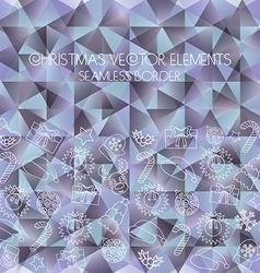 Christmas seamless border Polygon background vector image