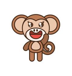 cute monkey toy kawaii image vector image vector image