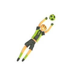 Goalkeeper Football Player Isolated vector image vector image