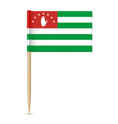 flag of abkhazia 10eps vector image vector image