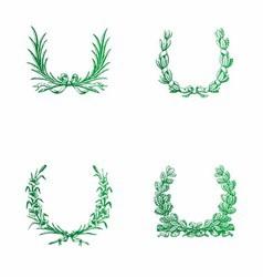 green Laurels free vector image