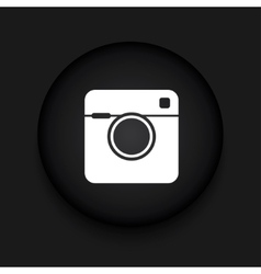 modern camera black circle icon vector image vector image