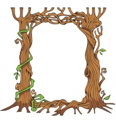 tree shaped photo frame vector image vector image