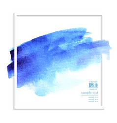 abstract blue watercolor background vector image vector image