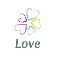LOVE Happy Valentines day icon vector image