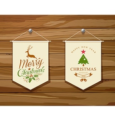 Merry Christmas flag concepts design set vector image