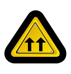 metal emblem warning sign icon vector image