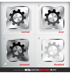 Set of four positions of circle metal settings vector