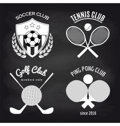Set of sport banners on chalkboard vector image vector image