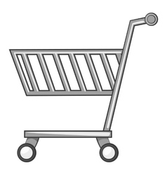 Shopping cart icon gray monochrome style vector image