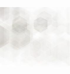 abstract geometric background grey hexagon vector image vector image