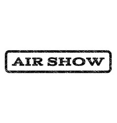 air show watermark stamp vector image