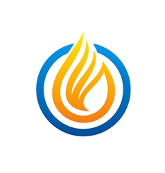 fire liquid abstract logo vector image vector image