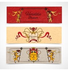 Heraldic banners set vector image vector image