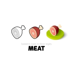 Meat icon in different style vector image vector image