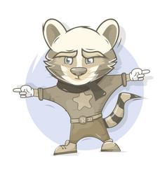 raccoon character cartoon style vector image
