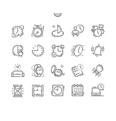 time well-crafted pixel perfect thin line vector image