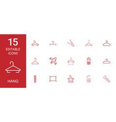 15 hang icons vector image