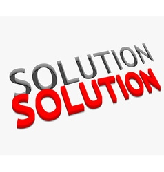 3d solution text design vector image