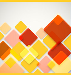 Abstract background of different color squares vector