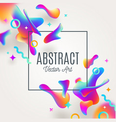 Abstract background with fluid multicolored drops vector