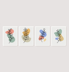 Abstract contemporary flower minimal modern vector