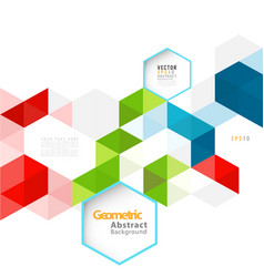 abstract geometric modern template for business vector image