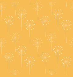 abstract hand drawn dandelion flower seamless vector image