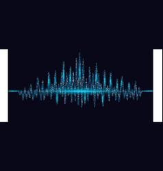 Abstract heart beats cardiogram vector