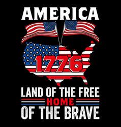 America 1776 land free vector