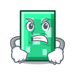 Angry rectangle mascot cartoon style vector