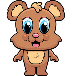 baby bear smiling vector image