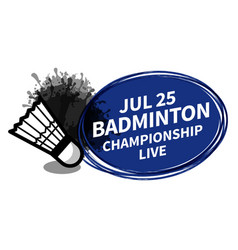 badminton racket sport shuttlecock scoreboard vector image