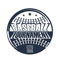 baseball badge ball tournament vector image