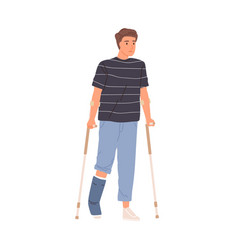 bone injury or fracture young patient man vector image