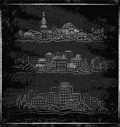 City chalk vector